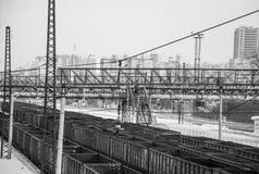 Station voor goederentreinen Royalty-vrije Stock Foto