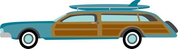 Station wagon del surfista Fotografia Stock Libera da Diritti