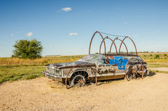 From Station Wagon to Covered Wagon Stock Photo