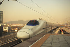 Station  was travel high-speed train Royalty Free Stock Photo