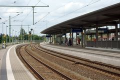 Station Wittenberge arkivbild