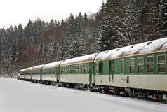 Station in Zelezna Ruda Tsjechische Republiek Royalty-vrije Stock Afbeeldingen