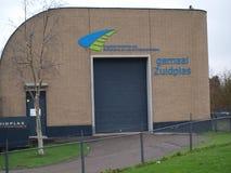 Station Zuidplas dans Waddinxveen, Pays-Bas de pompage de l'eau photographie stock libre de droits