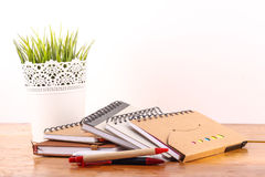 Stationaries. Isolated on white background Royalty Free Stock Photography