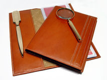 Stationary. Brown Stock Images