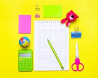 Stationary, back to school,summer time, creativity and education concept. Stationary,back to school,summer time, creativity and education concept.School Stock Images