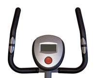 Stationary bicycle. Isolated in white Royalty Free Stock Photos