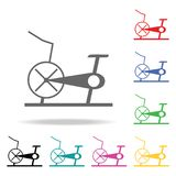 Stationary bicycle, Exercise Bike. Element of sport multi colored icon for mobile concept and web apps. Icon for website design an Royalty Free Stock Image