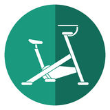 Stationary bicycle machine gym sport shadow. Vector illustration eps 10 Royalty Free Stock Image