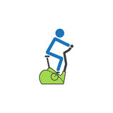 Stationary bicycle solid icon, Exercise Bike Royalty Free Stock Photo
