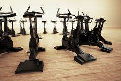 Stationary bike. Stock Photography