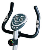 Stationary bike. Gym machine Royalty Free Stock Photo