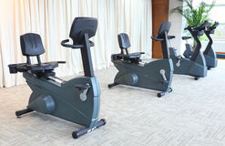 Stationary bikes Royalty Free Stock Photos