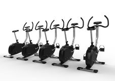 Stationary Bikes in a Row Stock Photography