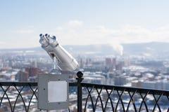 Stationary binoculars Royalty Free Stock Photography