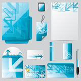 Stationary business set with arrows Stock Photo