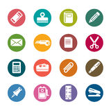 Stationary Color Icons Stock Image