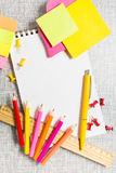 Stationary with copy space in center Royalty Free Stock Image