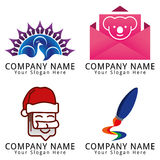 Stationary and Creative Media Concept Logo Stock Images