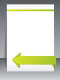 Stationary design with origami arrow Royalty Free Stock Image