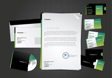 Stationary design template Royalty Free Stock Photos
