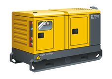 Stationary Diesel Generator. Vector illustration of Stationary Diesel Generator stock illustration