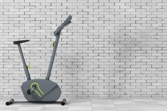 Stationary Exercise Bike Gym Machine. 3d Rendering. Stationary Exercise Bike Gym Machine in front of brick wall. 3d Rendering Royalty Free Stock Image