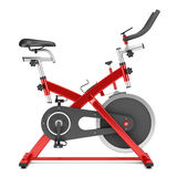 Stationary exercise bike isolated on white Stock Image
