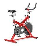 Stationary exercise bike isolated on white Royalty Free Stock Photos