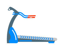 Stationary exercise bike sport gym machine health activity vector. Royalty Free Stock Photo