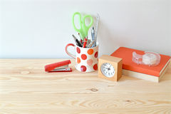 Stationary at home office Stock Photography