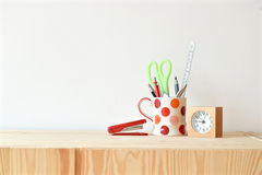 Stationary at home office Stock Image