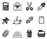 Stationary icon set Royalty Free Stock Photography