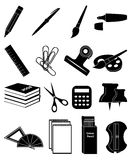Stationary icons set Royalty Free Stock Photo