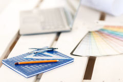 Stationary lying on the table Stock Photography