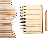 Stationary made from sustainable wood Royalty Free Stock Images