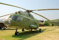 Stationary Military Helicopter Stock Images