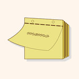 Stationary note theme elements vector,eps. Vector illustration file Stock Photography