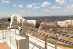 Stationary observation binoculars Stock Image