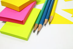 Stationary. For office work and art work Stock Image