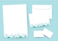 Stationary paper Stock Photo
