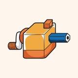 Stationary pencil sharpner theme elements vector,eps. Vector illustration file Royalty Free Stock Photo