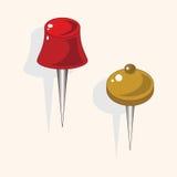 Stationary pushpin theme elements vector,eps. Vector illustration file Royalty Free Stock Photos
