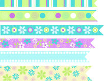 Stationary Ribbons Vector Elements. Cute Scrapbooking & Stationary Embellishment Ribbon Elements Vector Illustration Royalty Free Stock Photography