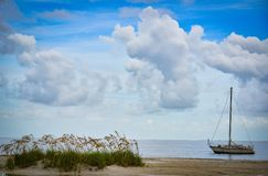 Stationary Sails stock image