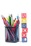 Stationary for school Royalty Free Stock Images