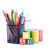 Stationary for school Stock Photos