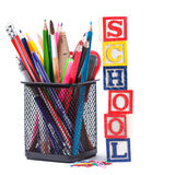 Stationary for school Royalty Free Stock Image
