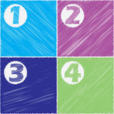 Stationary scribbled paper design set Stock Photography