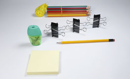 Stationary set. Back to school, back to work Royalty Free Stock Images